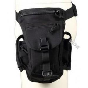 Функциональная набедренная сумка, Черная, новая
