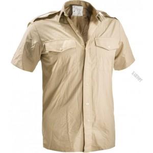 Рубашка британская с коротким рукавом. Бежевый.